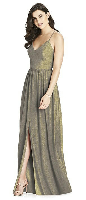Dessy Shimmer Bridesmaid Dress 3019LS